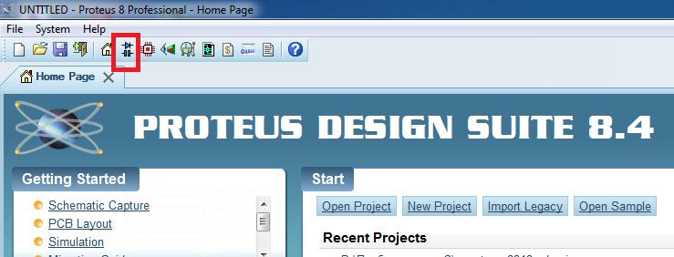 Proteus первый запуск