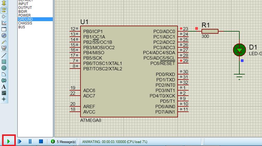 Proteus | Симуляция работы микроконтроллеров