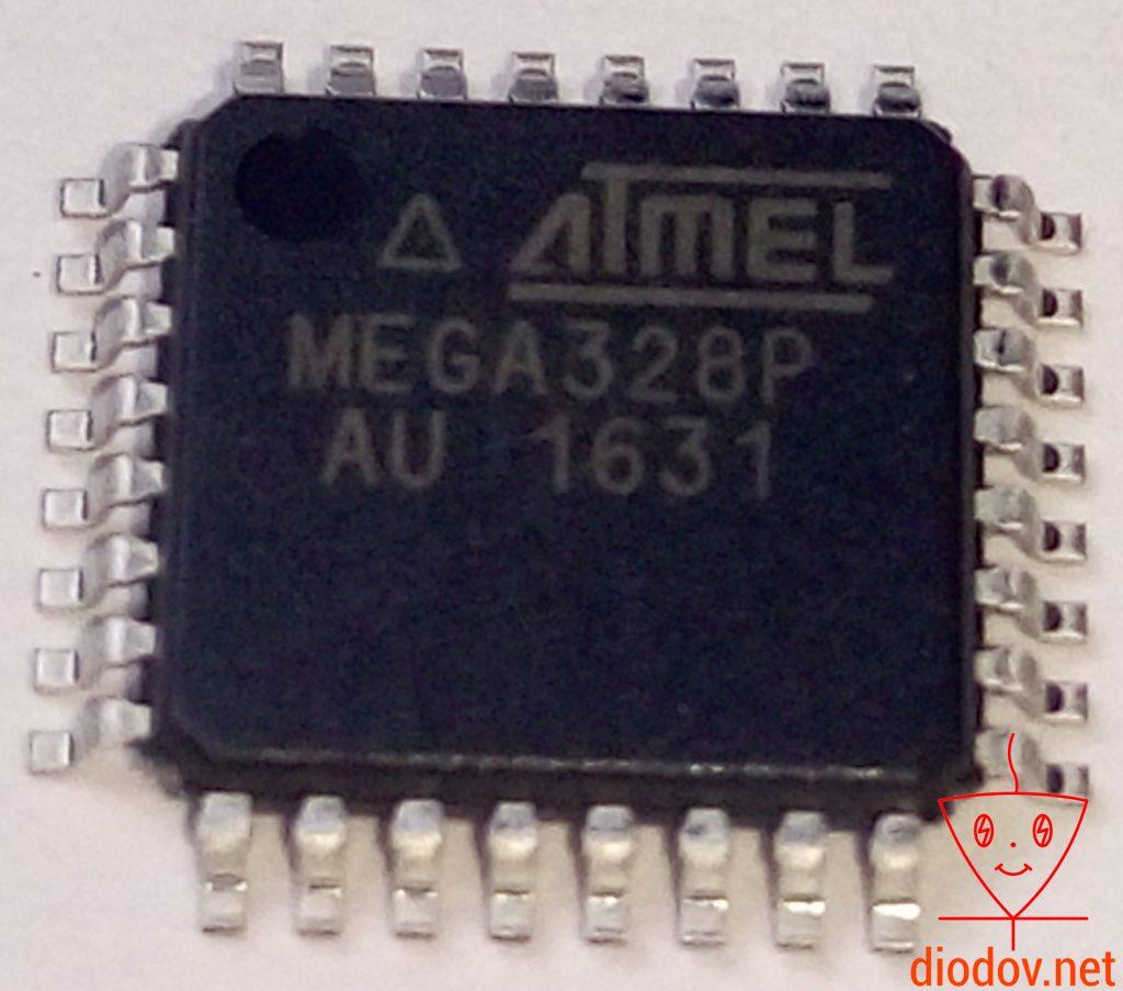 Микроконтроллер ATmega328P в TQFP корпусе
