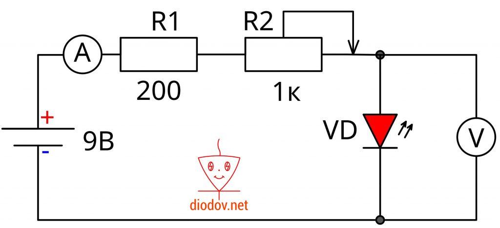 Как узнать параметры светодиода