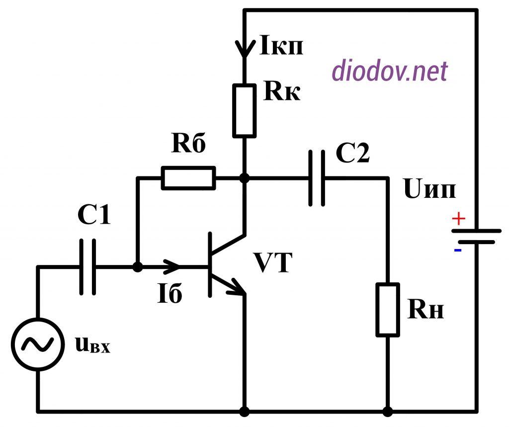 Транзисторный усилитель с температурной стабилизацией