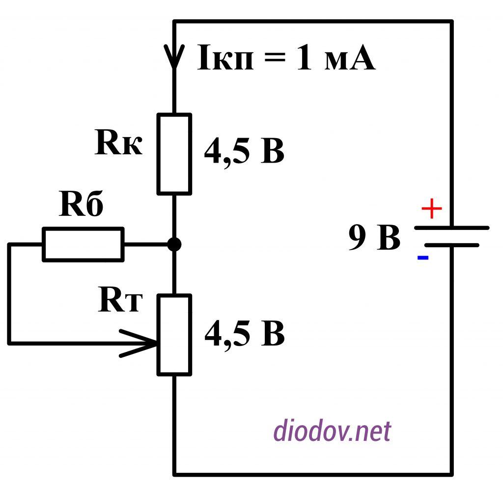 Схема замещения транзисторного усилителя