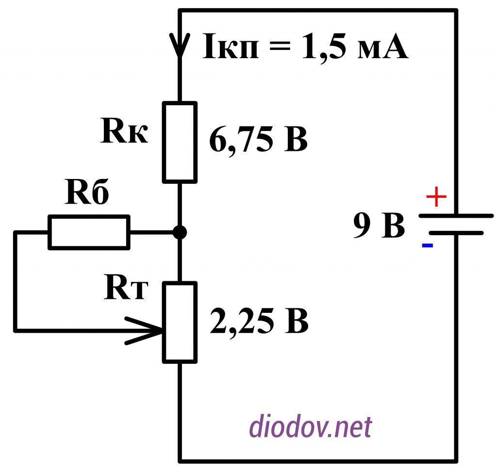 Температурная стабилизация усилителя на транзисторах
