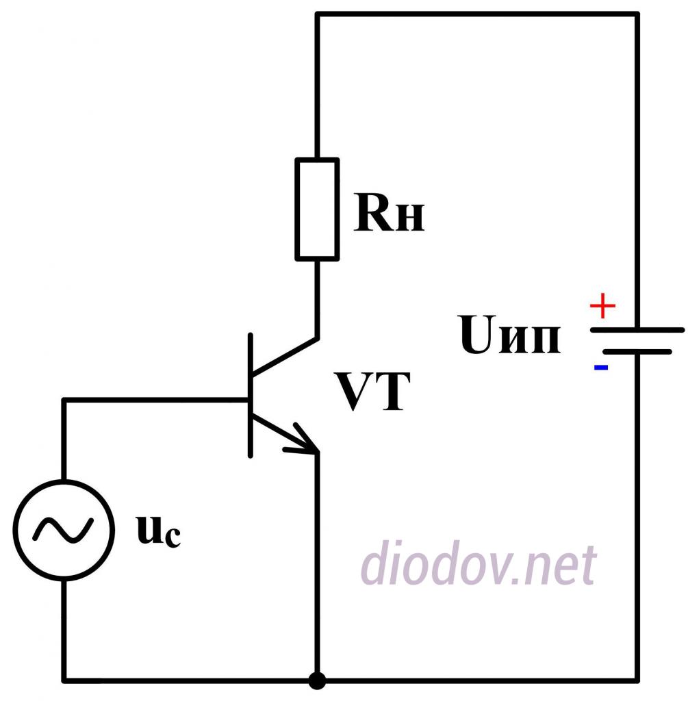 Схема усилителя переменного тока на транзисторе