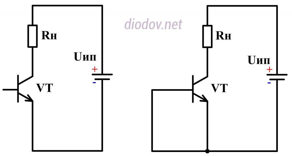 Режим отсечки биполярного транзистора