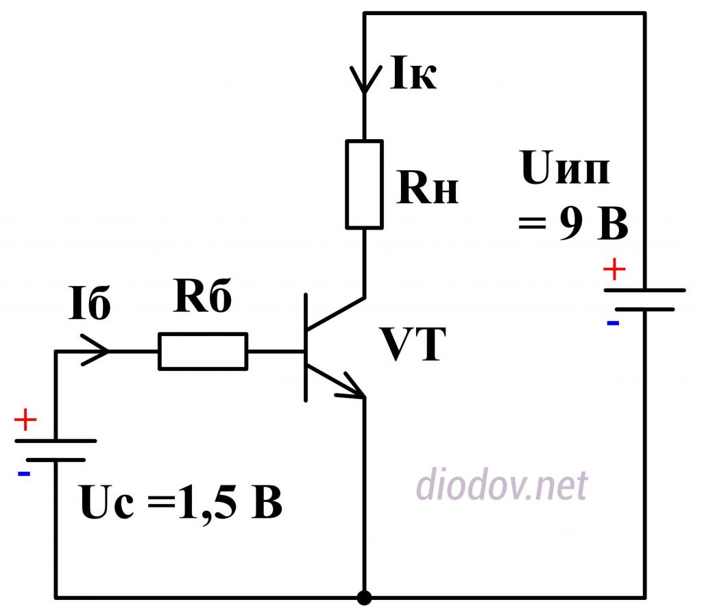 Принцип работы транзистора