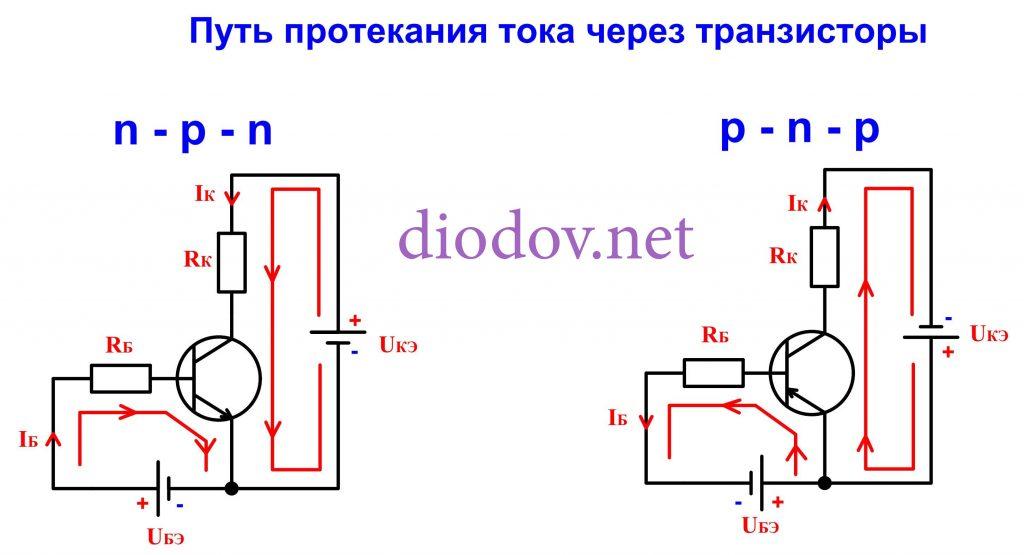 Схема транзисторного ключа