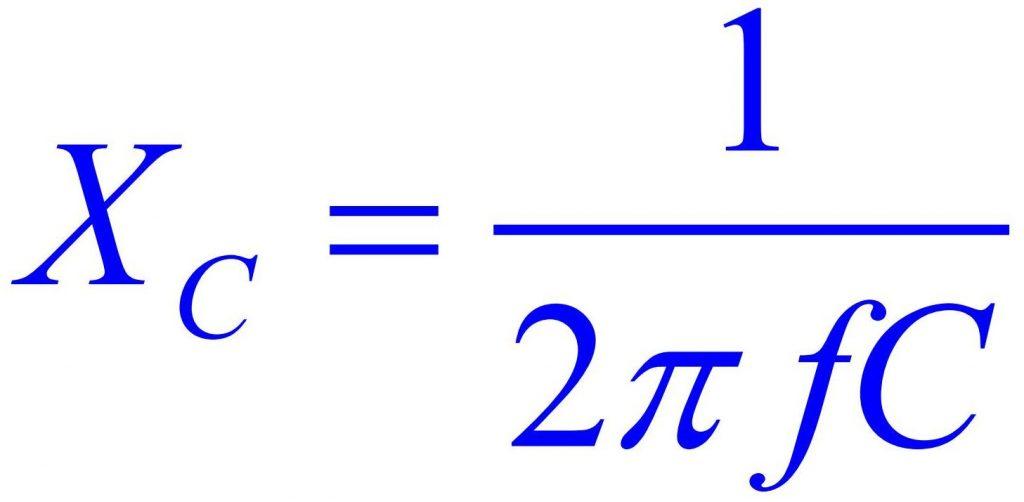 Формула емкостное сопротивление