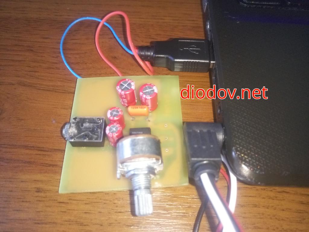 USB усилитель звука для наушников