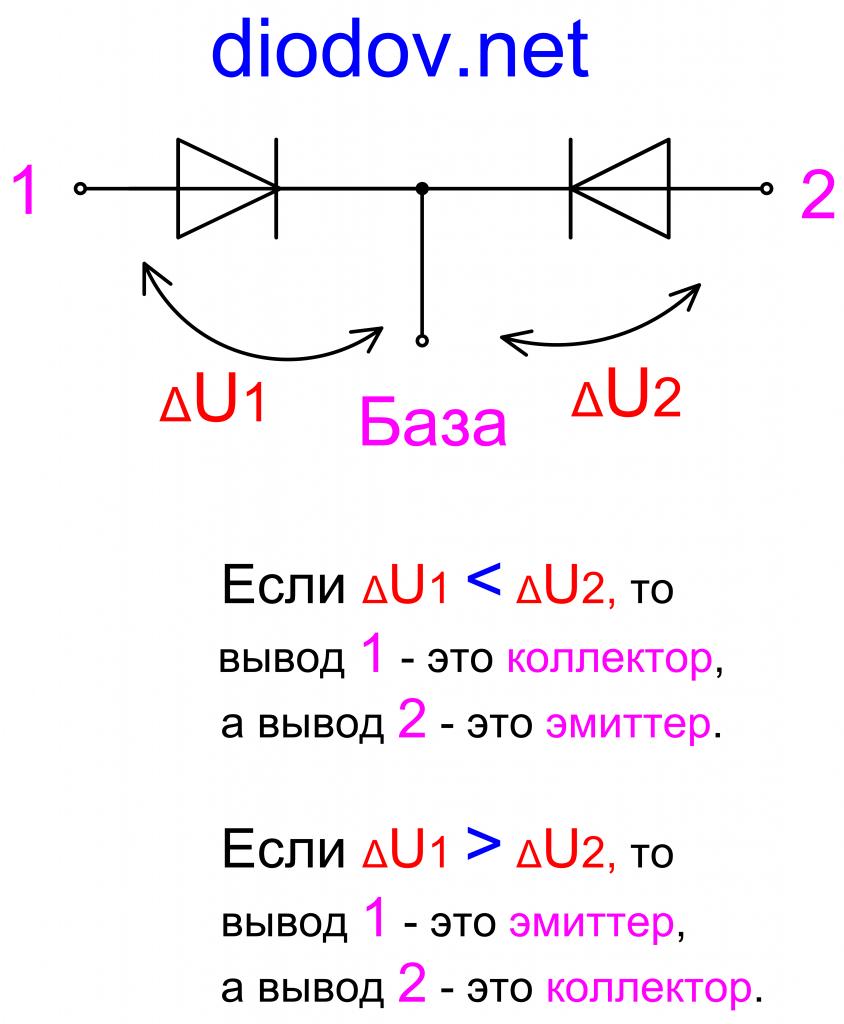 Как определить выводы транзистора