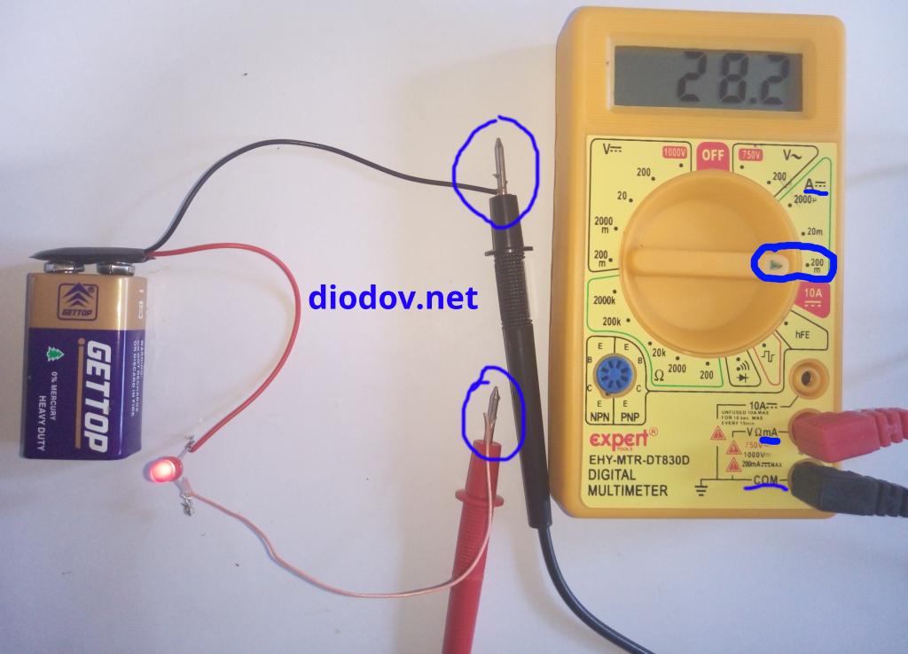 Как измерить ток мультиметром