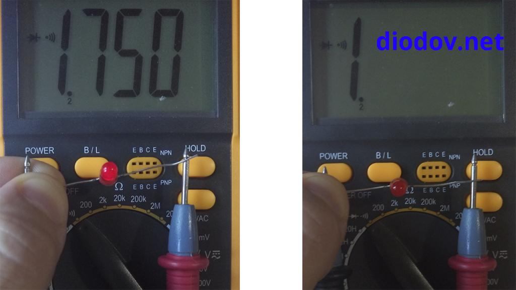Как проверить светодиод тестером