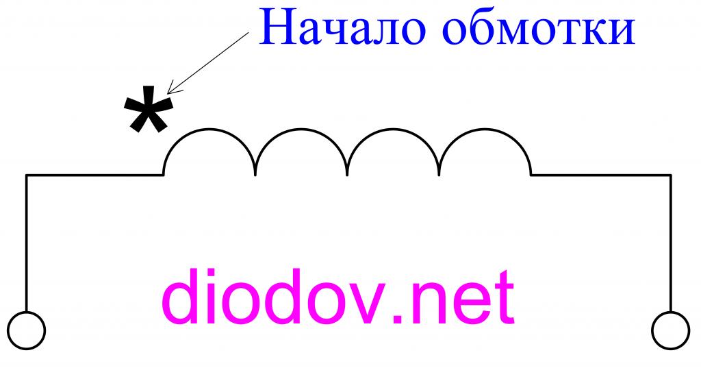 Обозначение первичной обмотки трансформатора